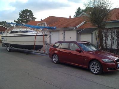 Macgregor26x lastad för transportförsäljning i Luleå