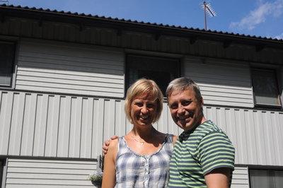 Elisabet och Anders Bergström i Restenäs